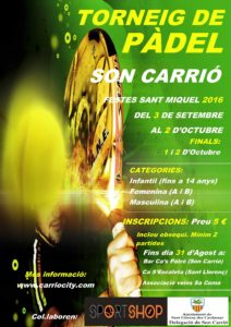 Cartell pàdel 2016